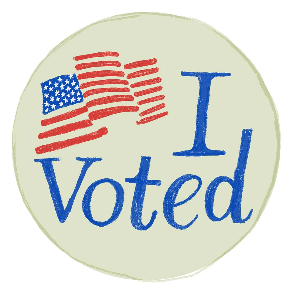 This is a graphic of Influential I Voted Stickers Printable