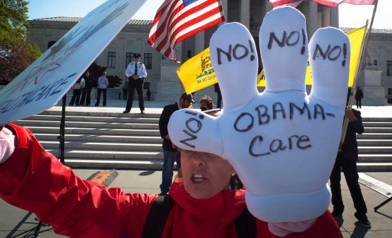 The hidden health care mandate doesn't seem to bother the Tea Party