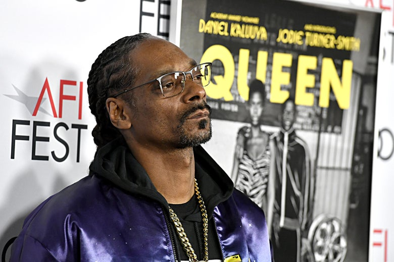 Snoop Dogg on a red carpet.
