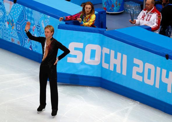 Russian skater Evgeni Plushenko withdraws from competition.