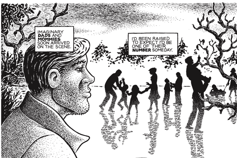 A panel from Howard Cruse's Stuck Rubber Baby.