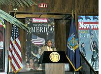 U.S. Rep. Charles Rangel speaking at the Newsweek Future of New York luncheon at the Four Seasons, New York City