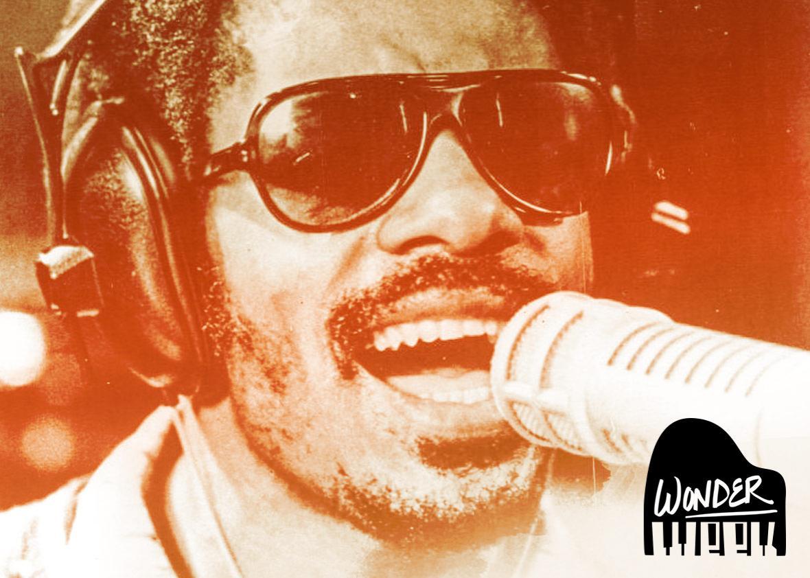 Stevie Wonder performing in 1973.
