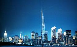An artist's rendering of One World Trade Center. Click image to expand.