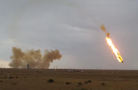 Russian rocket explosion