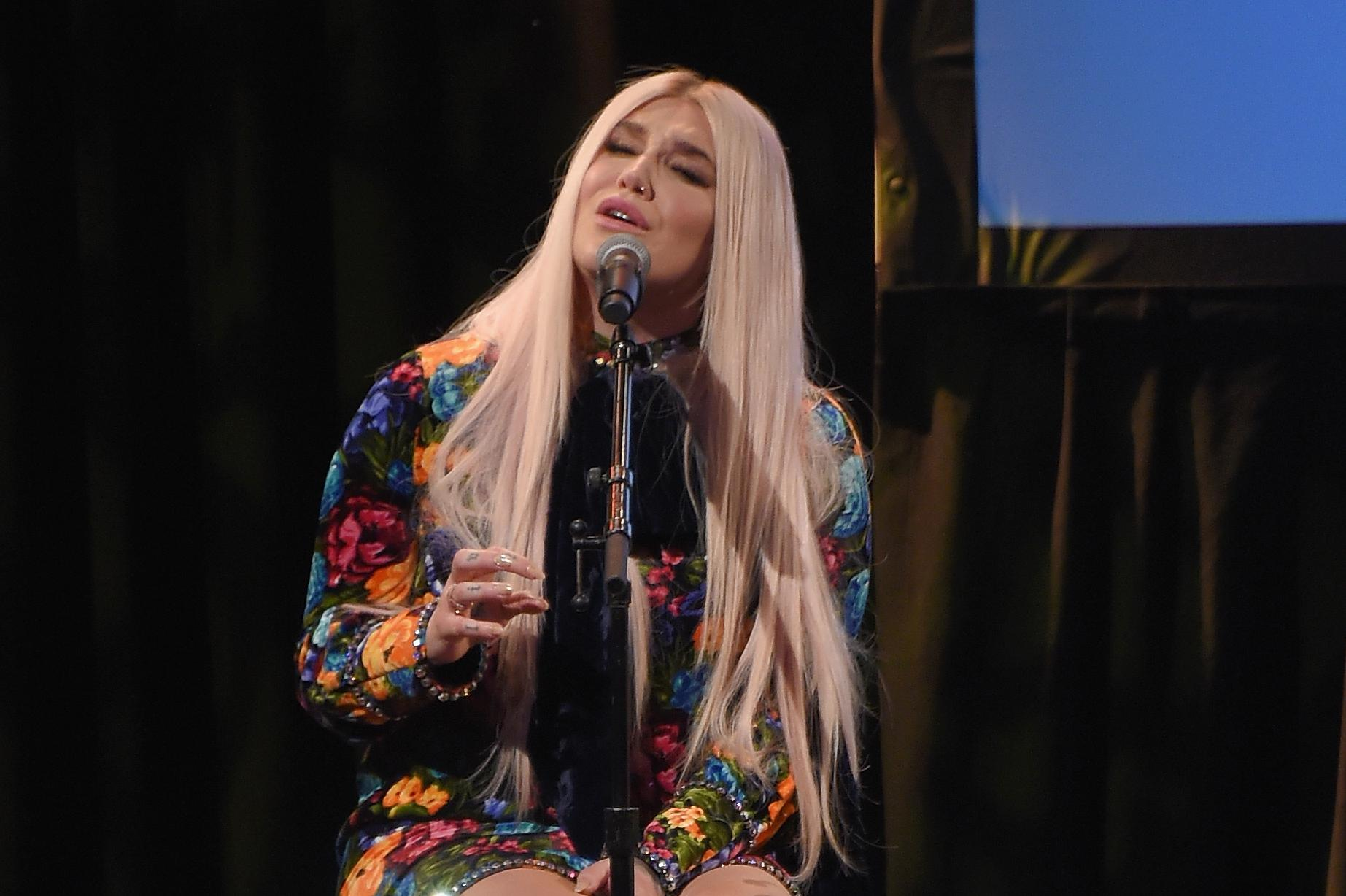Musician Kesha performs onstage at the Country Music Hall of Fame and Museum's 'All for the Hall' Benefit on February 12, 2018 in New York City.