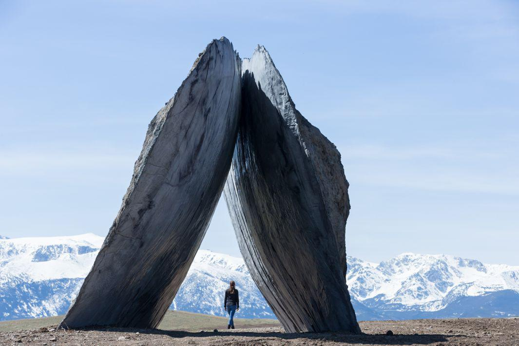 These Immense Concrete Sculptures Near Yellowstone Look Like They've Always Been There