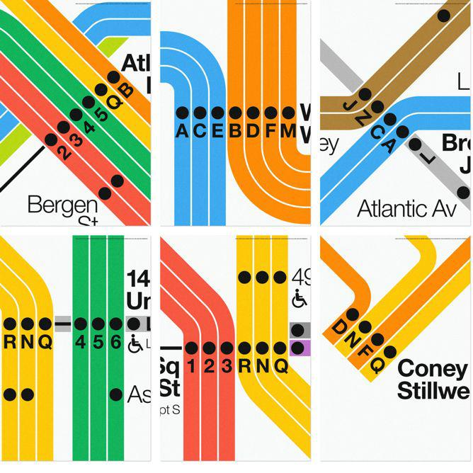Nyc Subway Posters From Massimo Vignelli And Superwarmred Designs