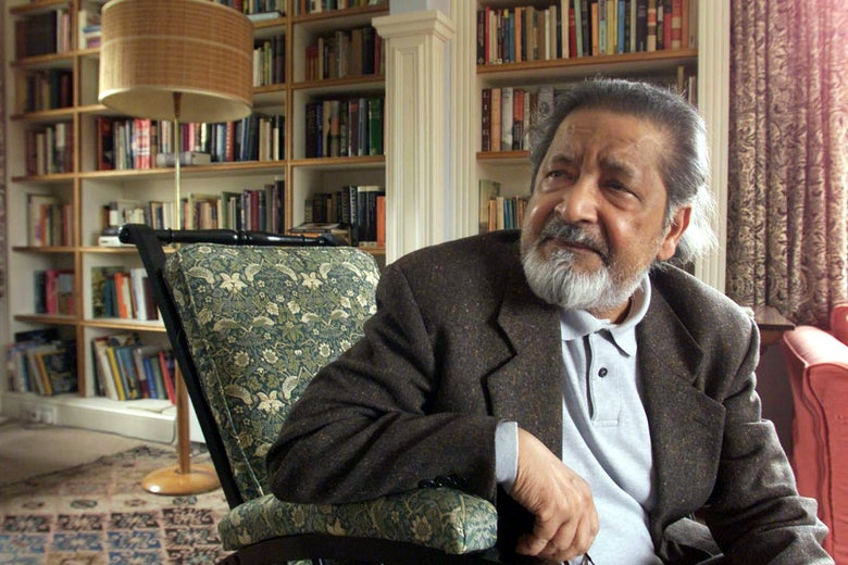 Author V.S. Naipaul in 2001.
