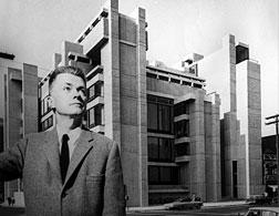 Paul Rudolph with his A&A Building. Click image to expand.