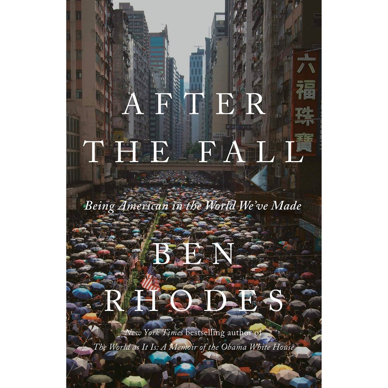 After the Fall book cover featuring a sea of protesters under umbrellas in Hong Kong