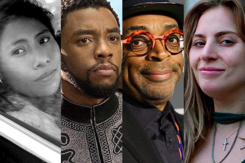 Yalitza Aparicio, Chadwick Boseman, Spike Lee, and Lady Gaga.