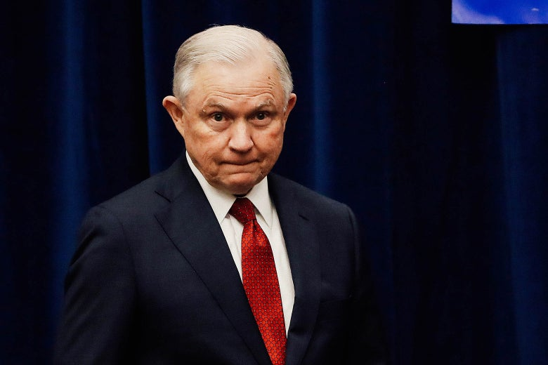 Attorney General Jeff Sessions is seen at the California Peace Officers' Association 26th Annual Law Enforcement Legislative Day on March 7, 2018 in Sacramento, California.