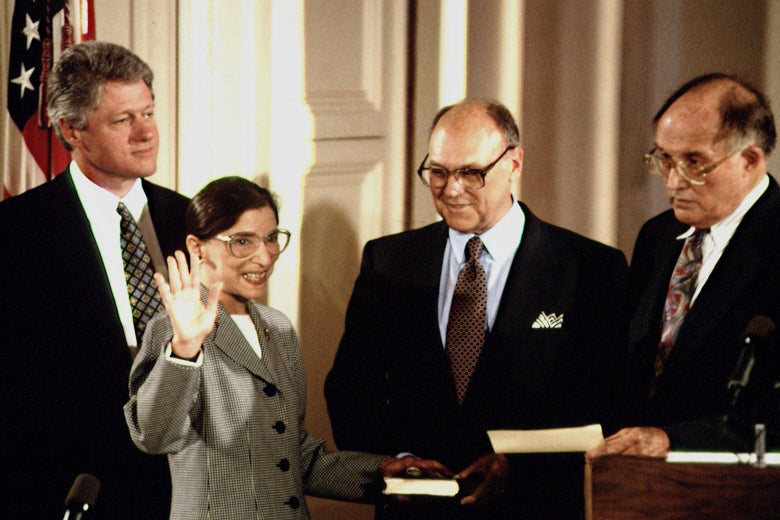 1993 swearing-in of RBG.