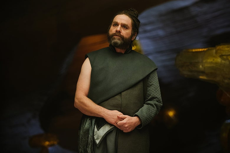 Zach Galifianakis plays the Happy Medium in A Wrinkle in Time.