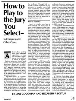 Loftus on jury selection and strategy, 1987. Click image to expand.