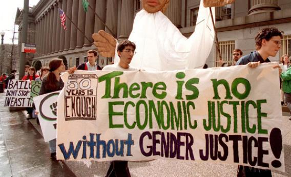 Protest for gender equality.