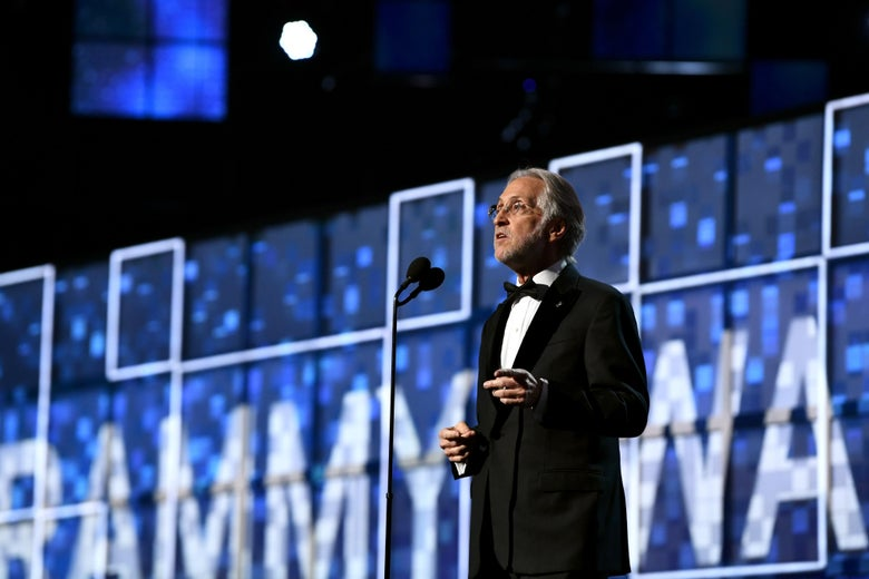 Recording Academy President Neil Portnow speaks onstage during the 61st Annual GRAMMY Awards at Staples Center on February 10, 2019 in Los Angeles, California.  (Photo by Emma McIntyre/Getty Images for The Recording Academy)