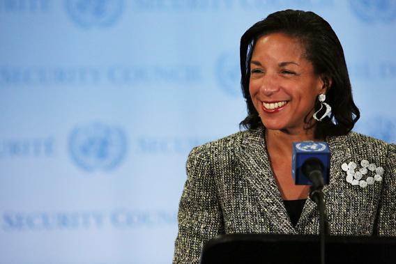 U.S. Ambassador to the United Nations Susan Rice addresses the media following a UN Security Council meeting on July 11, 2012 in New York City.