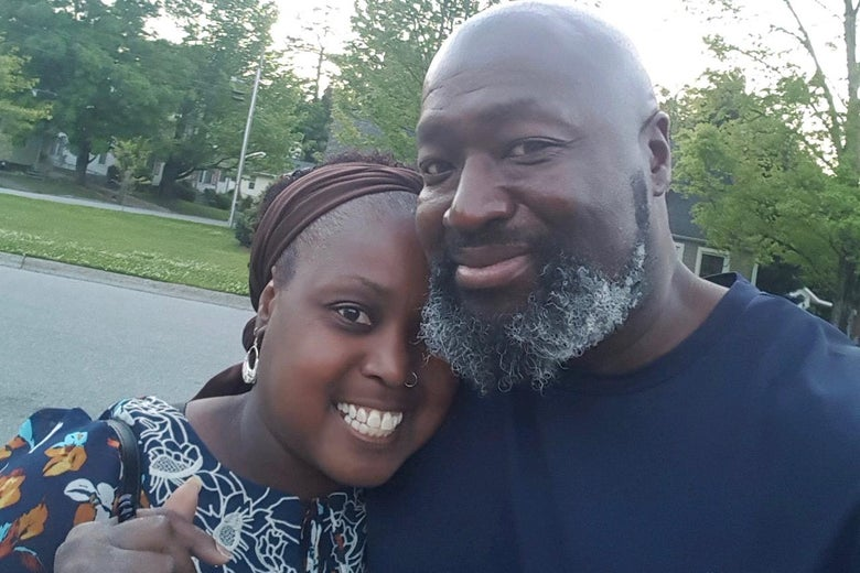 Matthew Charles and his sister Cathy.