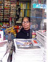 A New York newsstand