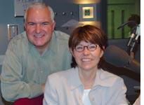 Posing with Jack Diamond, radio host