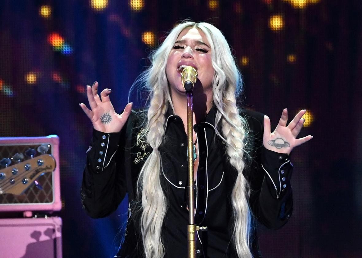"Kesha is ""always telling everybody you don't gotta be a victim,"" as she sings on Rainbow. Now she's practicing what she preaches."