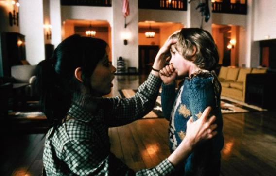 Wendy Torrance (Shelley Duvall) and Danny Torrance (Danny Lloyd) in Stanley Kubrick's The Shining