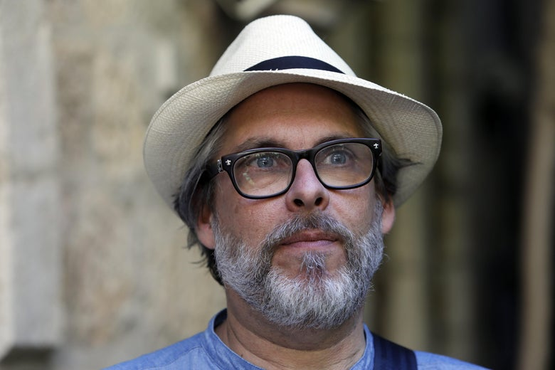American novelist Michael Chabon speaks during an interview in Jerusalem on June 18, 2017. / AFP PHOTO / MENAHEM KAHANA        (Photo credit should read MENAHEM KAHANA/AFP/Getty Images)