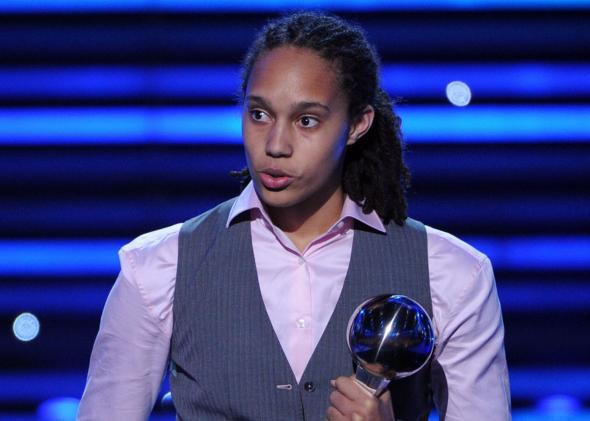 Brittney Griner accepts the 2012 ESPY for Best Female Athlete.