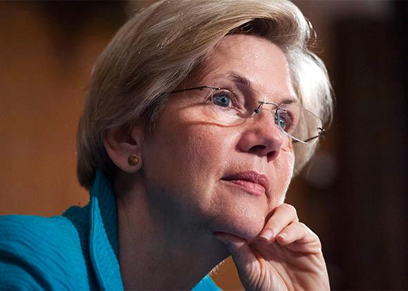 Sen. Elizabeth Warren, D-Mass., attends a Senate Banking, Housing and Urban Affairs Committee.
