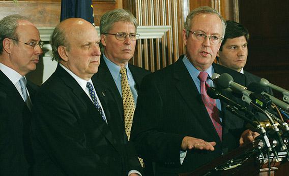 James Bopp (center)