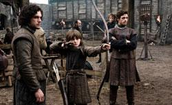 """Kit Harington, Isaac Hempstead-Wright, Richard Madden in """"Game of Thrones."""" Click image to expand."""