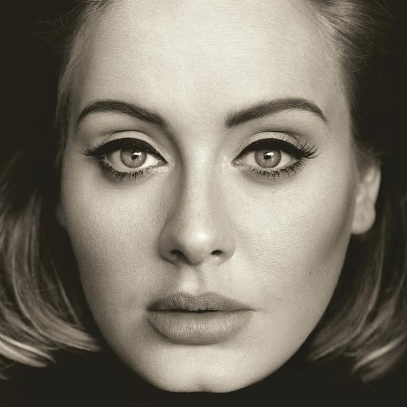 Official album art for Adele's 25