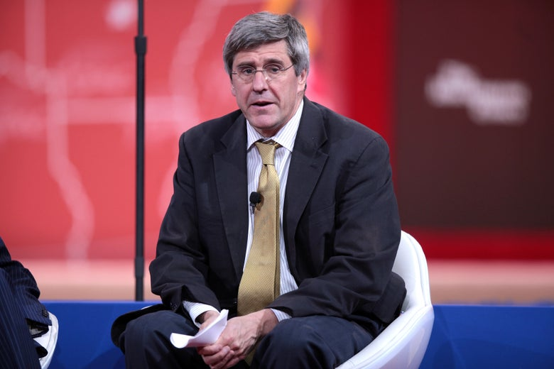 Stephen Moore onstage at the 2015 Conservative Political Action Conference.