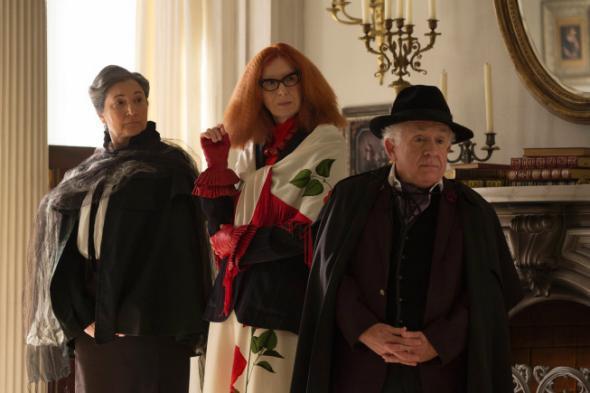 Robin Barlett as Cecily, Frances Conroy as Myrtle, Leslie Jordan as Quentin