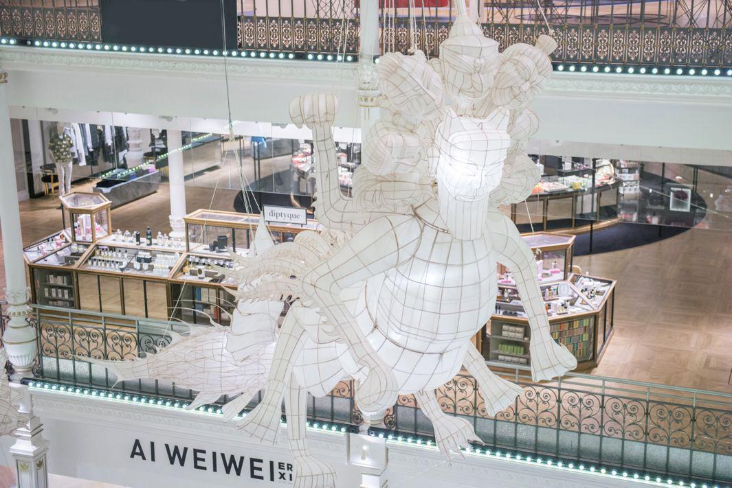 Expo ER XI Ai Weiwei au Bon Marché oeuvre Tianwu ©Gabriel de la Chapelle
