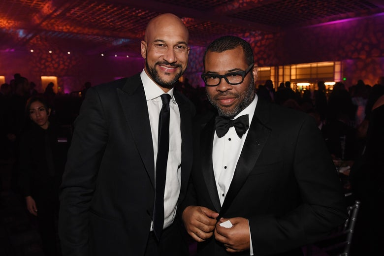 Keegan-Michael Key and Jordan Peele attend 49th NAACP Image Awards After Party at Pasadena Civic Auditorium on January 15, 2018 in Pasadena, California.  (Photo by Paras Griffin/Getty Images for NAACP)