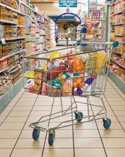 Full shopping cart.