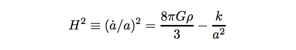 Friedmann equation