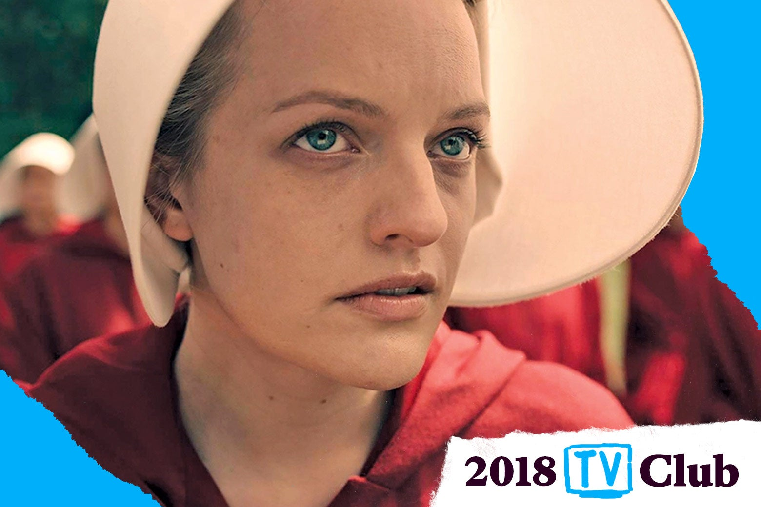 Elisabeth Moss in The Handmaid's Tale.