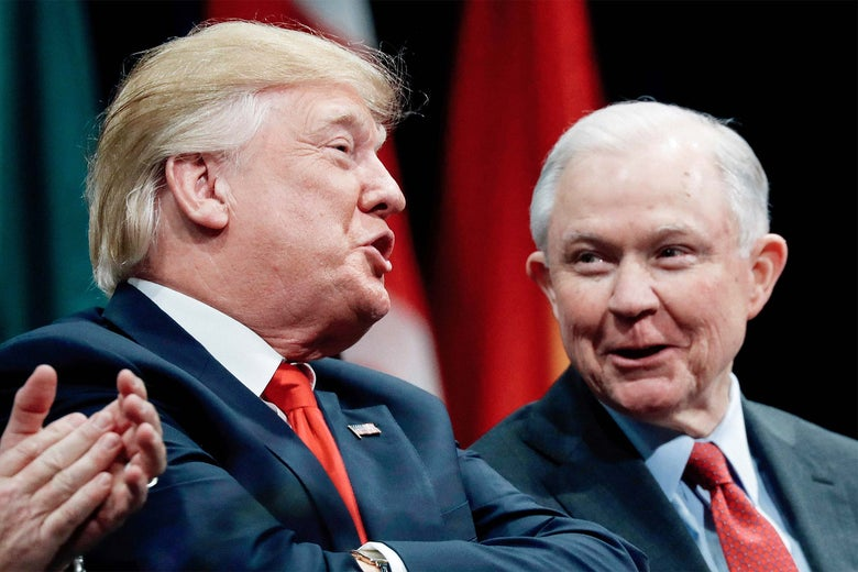 Donald Trump, Jeff Sessions.