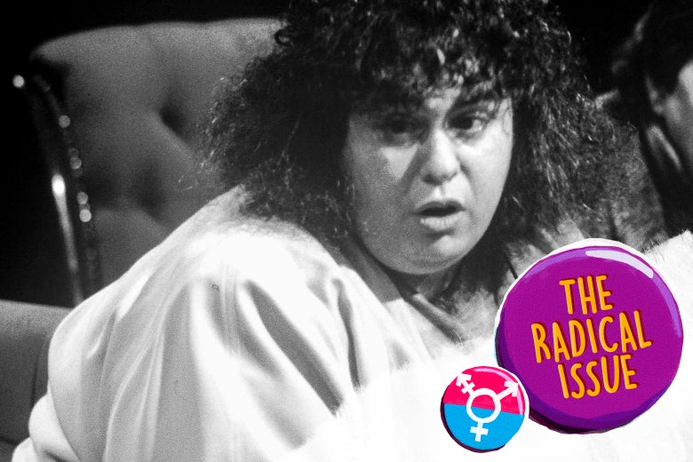 Andrea Dworkin appearing on British television discussion program After Dark