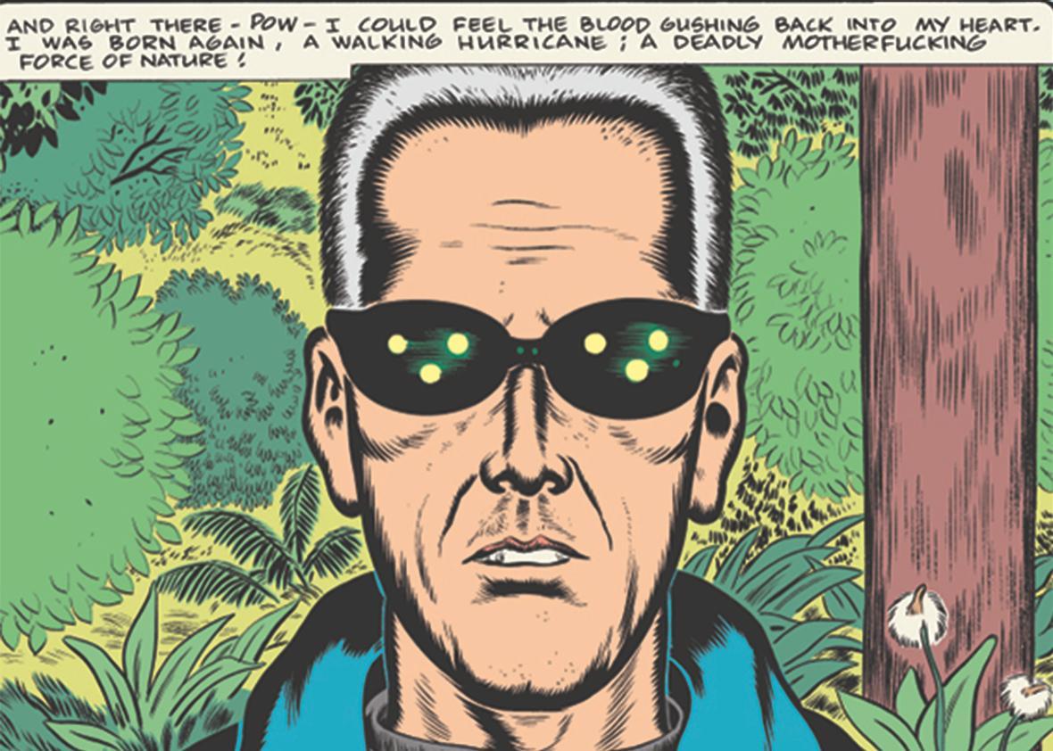 Daniel Clowes' PATIENCE panel.