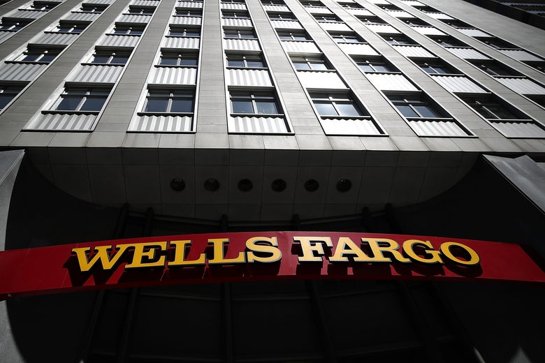 SAN FRANCISCO, CA - JULY 14:  A sign is posted at a Wells Fargo Bank branch office on July 14, 2017 in San Francisco, California. San Francisco based Wells Fargo & Co. reported better-than-expected second quarter earnings with profits up 5 percent to $5.8 billion, or $1.07 per share.  (Photo by Justin Sullivan/Getty Images)