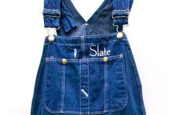 Slate logo overalls (yes, overalls)