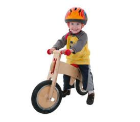 Kid on a balance bike