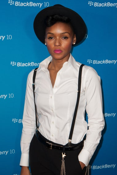 Janelle Monae attends BlackBerry Z10 Launch Event at Best Buy Theater on March 21, 2013 in New York City.