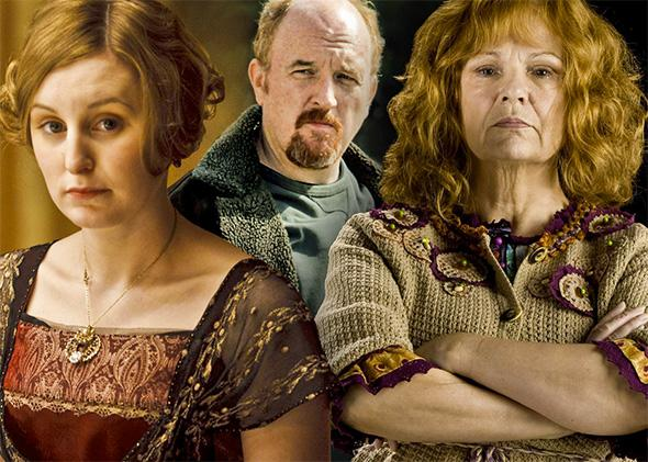 Dowdy defenders: Lady Edith, Louis C.K., and Mrs. Weasley.