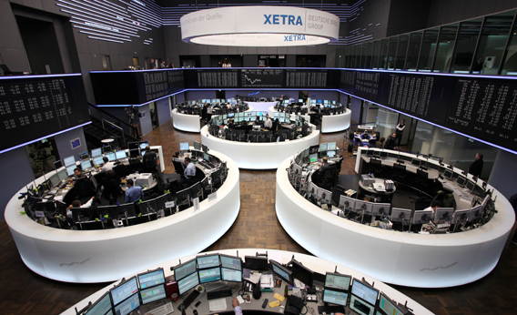 A total view of the trading floor of Frankfurt Stock Exchange is pictured on February 10, 2011 in Frankfurt am Main, Germany.